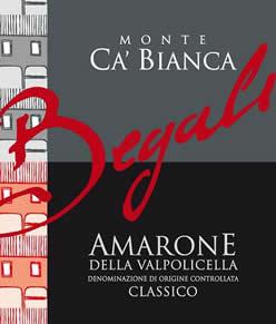 Amarone Cru Monte Ca' Bianca