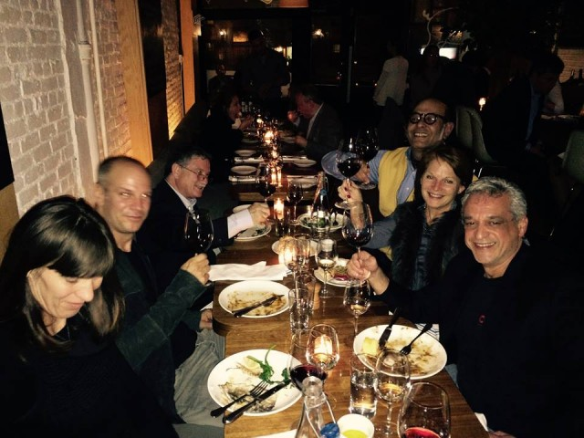 group photo dinner