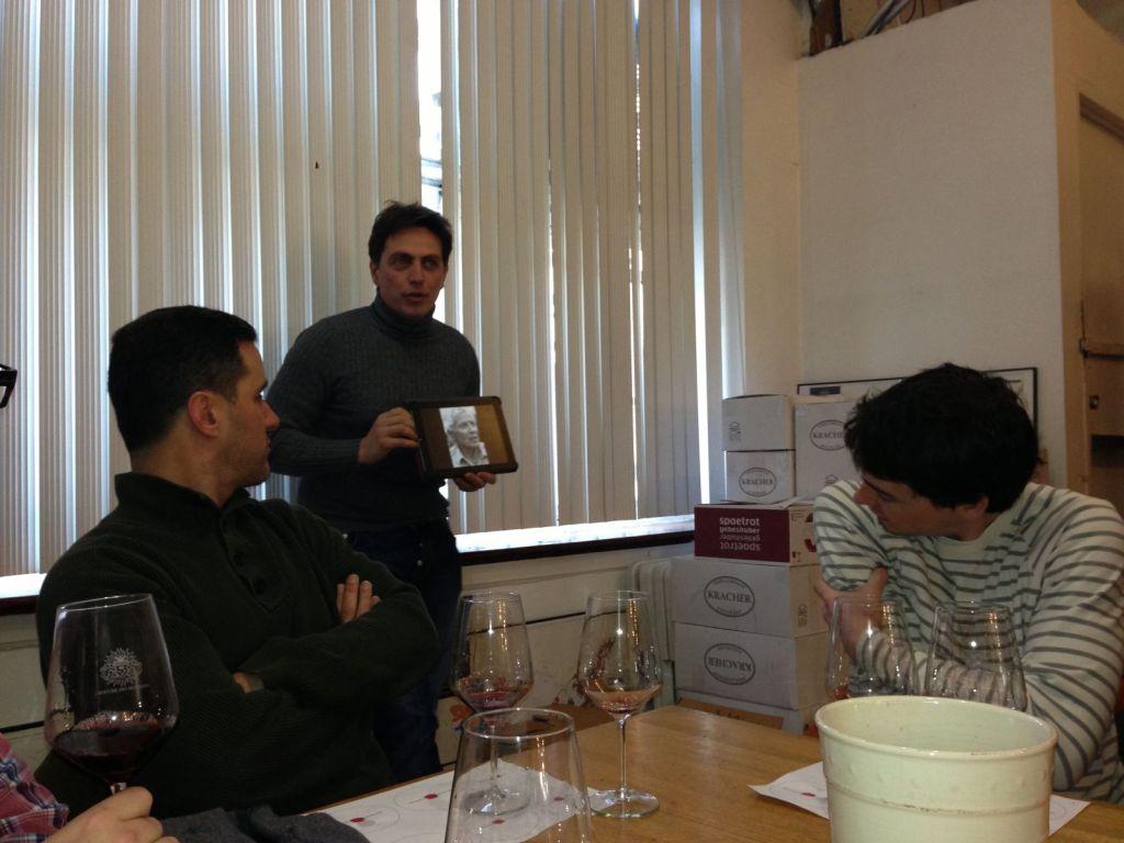 Fabio Giannetti owner of La Fornace Staff training