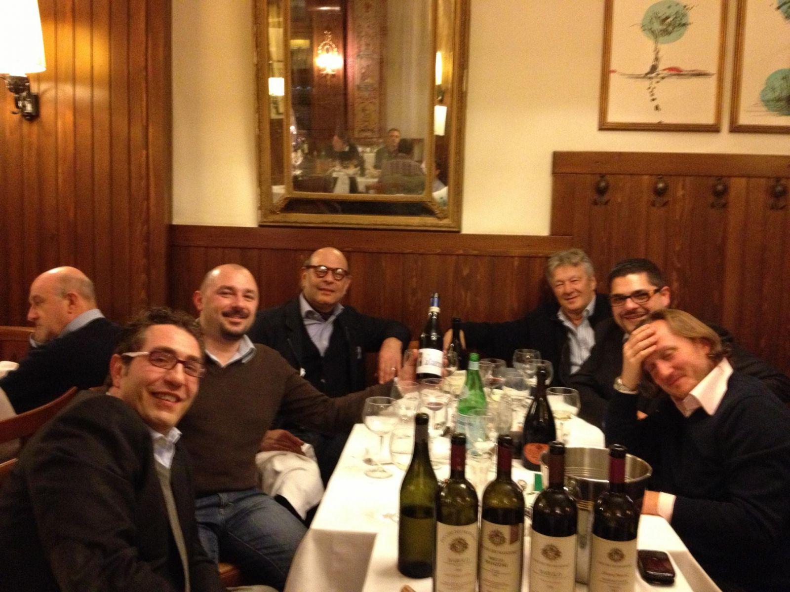 friends at L'america Restaurant