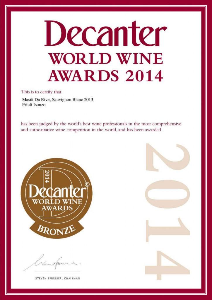 Decanter world wine award 2014